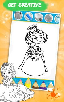 Shimmer Sofia The Princess Free Coloring Book Game Poster