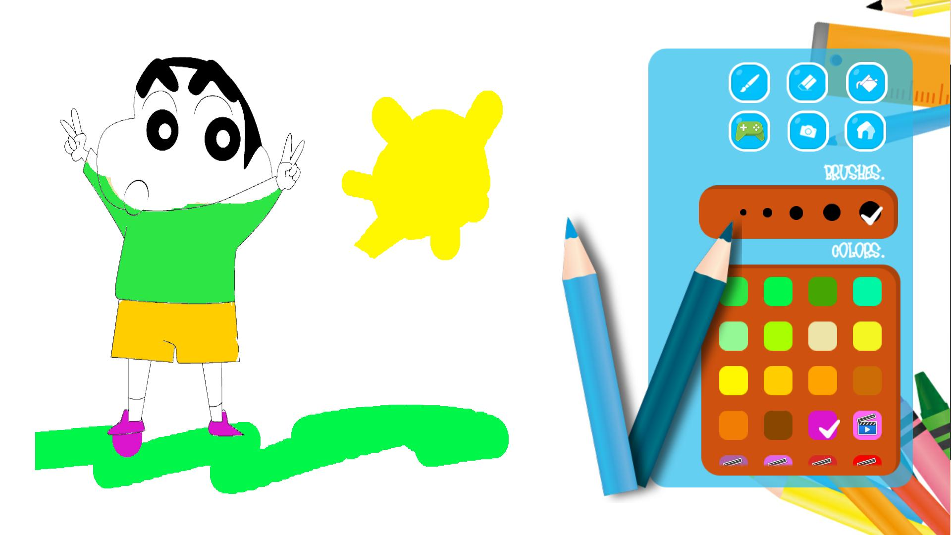 Shin chan painting game for kids for Android - APK Download