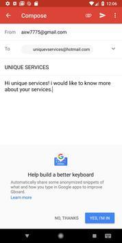 UNIQUE SERVICES screenshot 5