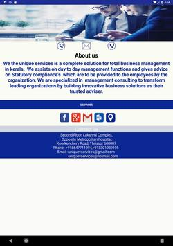 UNIQUE SERVICES screenshot 8