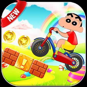 Shin Bike Chan Race apk screenshot