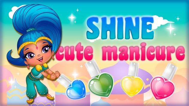 Cute manicure shine poster