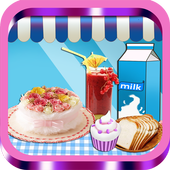 Cream Cake Maker Kids:Juice Smoothie Cookie Pizza icon