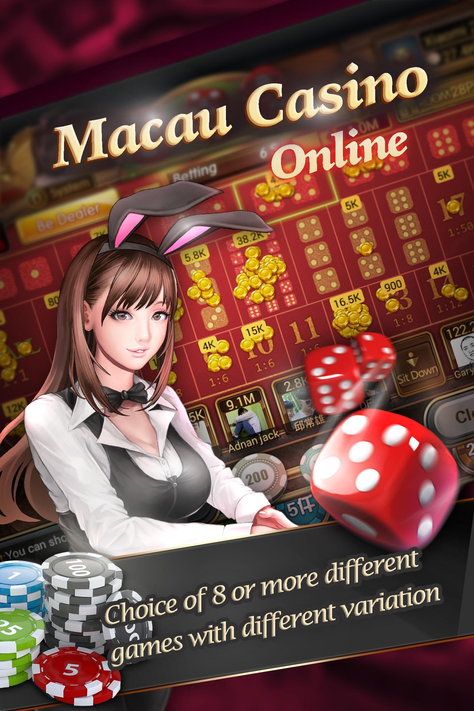 Макао онлайн казино игровые аппараты производство словения zlato clab