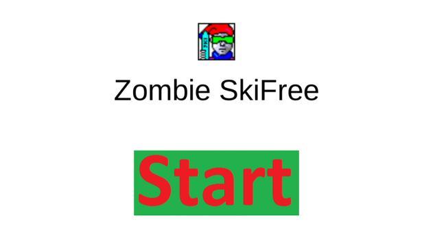Zombie SkiFree poster