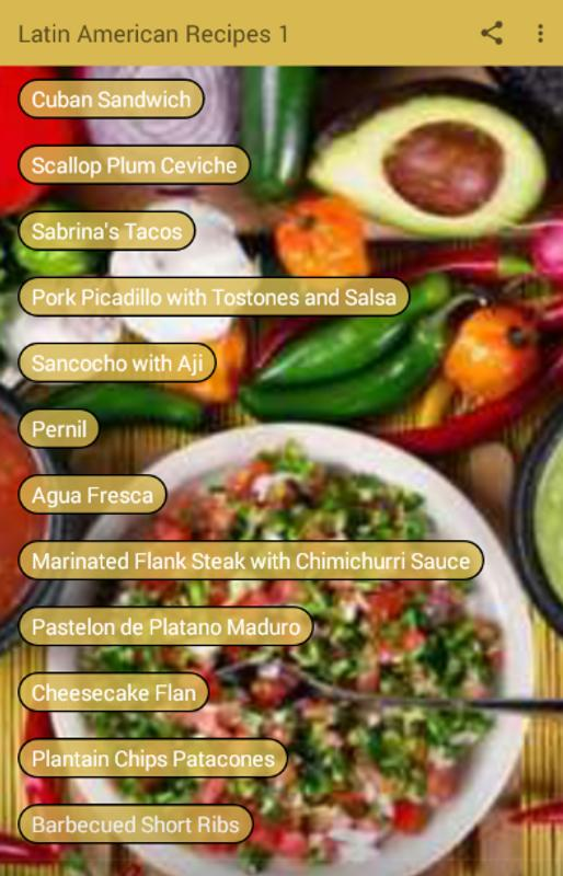 Latin american recipes apk download free books reference app for latin american recipes apk screenshot forumfinder Gallery