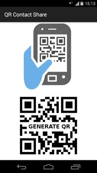 QR Contact Share poster
