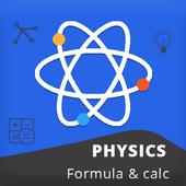 Physics formula and calculator icon