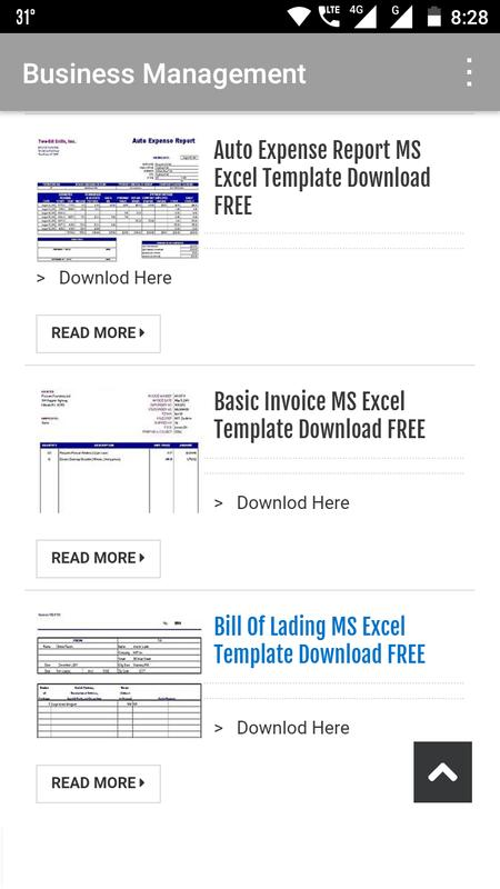 Readymade Excel Templates For Android Apk Download