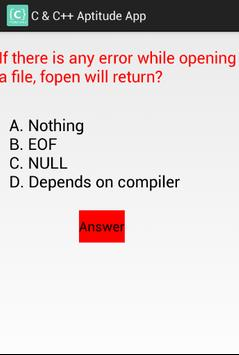 C and C++ Aptitude App screenshot 4