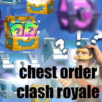 Chest order for Clash Royale poster