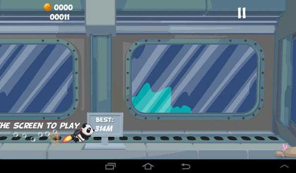Panda Jet vs Aliens Runner screenshot 1