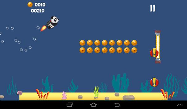 Panda Jet vs Aliens Runner screenshot 2