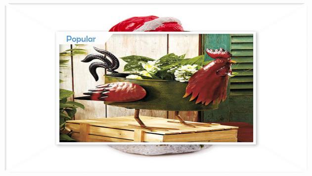 Unique Styrofoam Rusty Rooster Garden Ornament screenshot 2