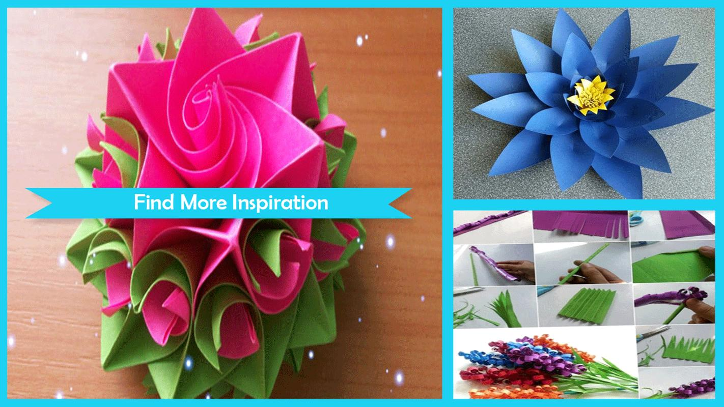 Cool Paper Flower Craft For Android Apk Download