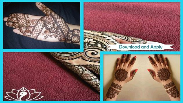 Simple Circle Mehndi Design poster