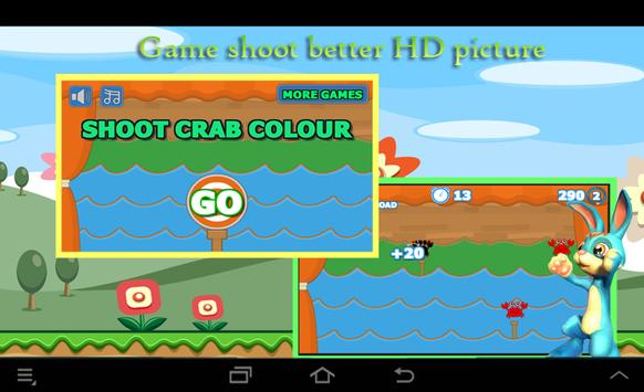 Shoot Crab Colour poster