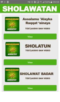 Kumpulan Sholawat Nabi Terbaru Text + Audio poster