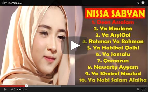Download lagu nissa sabyan gambus ya nabi salam alaika