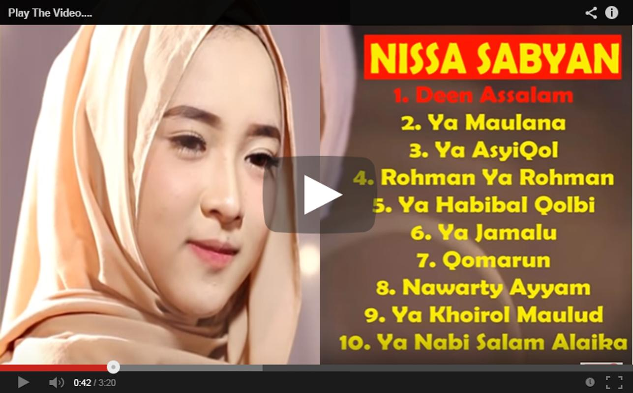 Sholawat Nissa Syaban Mp3 For Android Apk Download