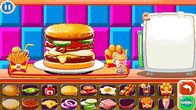 Burger Chef : New Burger Shop Fast Food Chef Free screenshot 4