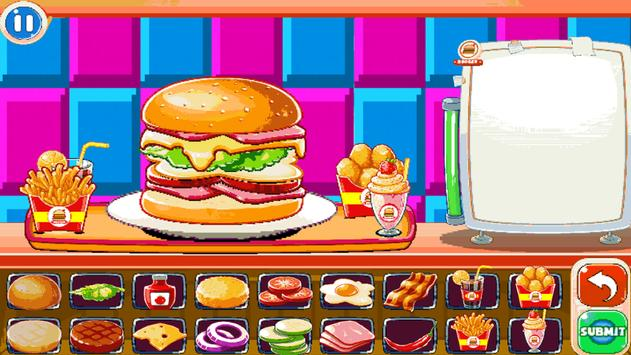 Burger Chef : New Burger Shop Fast Food Chef Free screenshot 7