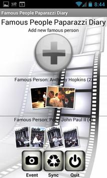 Famous People Paparazzi Diary poster