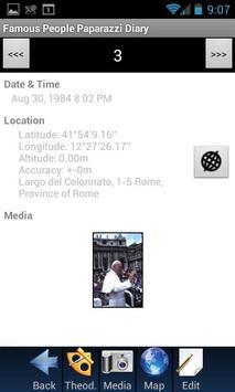 Famous People Paparazzi Diary apk screenshot