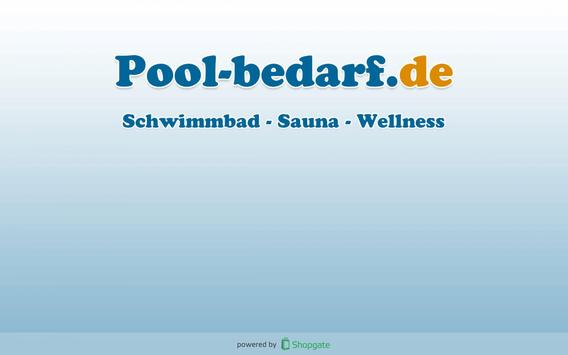 Pool Bedarf Onlineshop poster
