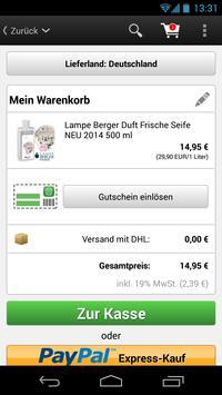 Lampe Berger Versand screenshot 4