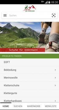Ausrüster- Shop- App screenshot 1