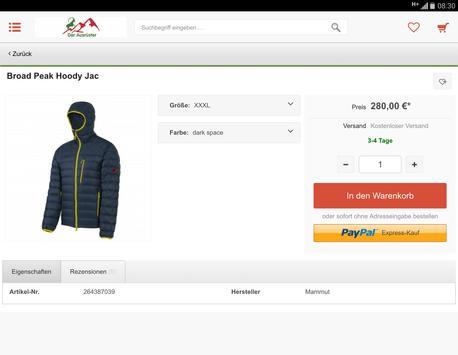 Ausrüster- Shop- App screenshot 7