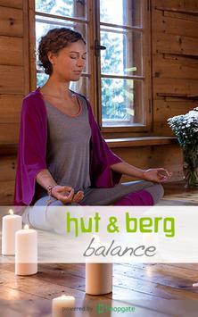 hut & berg poster