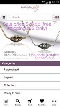 Isabelle Grace Jewelry apk screenshot