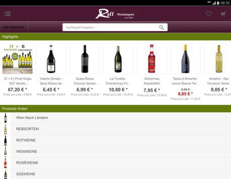 Raff Weinimport apk screenshot