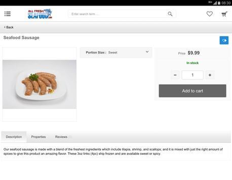 All Fresh Seafood apk screenshot