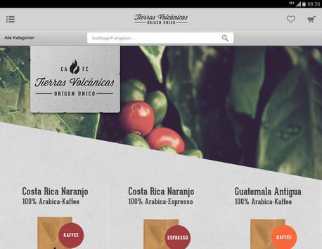 Café Tierras Volcánicas Shop apk screenshot