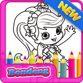 Girls Shopkins Coloring icon