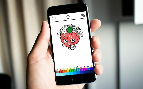 Girls Shopkins Coloring screenshot 7