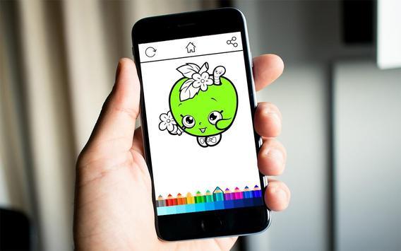 Girls Shopkins Coloring screenshot 6