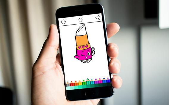 Girls Shopkins Coloring screenshot 8