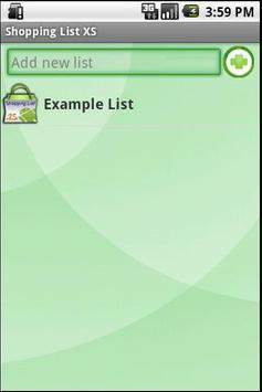 Shopping List XS apk screenshot