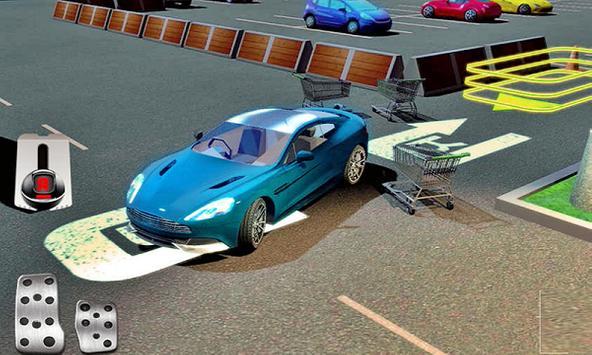 Car Park Shopping Center 3D poster
