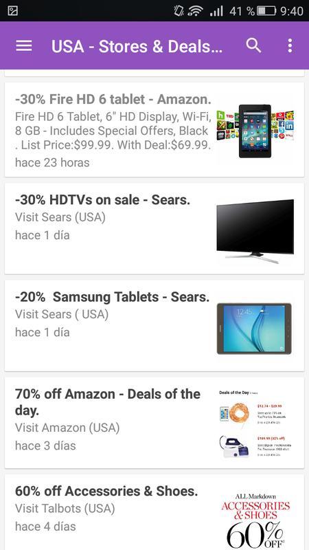 a4e0e95b6 Shops   Deals (USA) for Android - APK Download