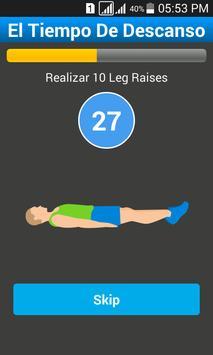 Plays 7 Minutes Workout screenshot 5
