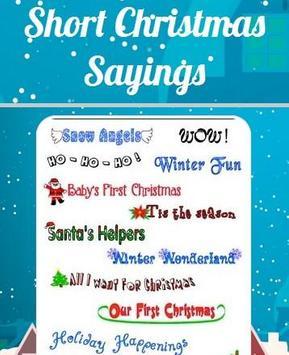 short christmas sayings poster
