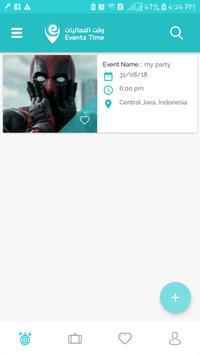 Events Time screenshot 2