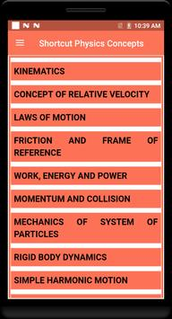 Shortcut Physics Concepts poster