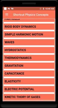 Shortcut Physics Concepts screenshot 1