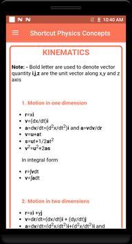 Shortcut Physics Concepts screenshot 2